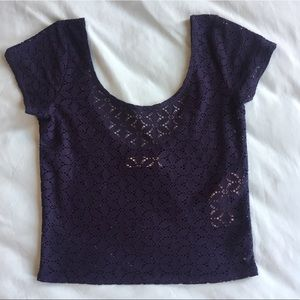 Abercrombie & Fitch laser cut crop top, worn once!